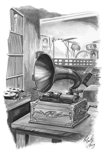 His Master's Ear. Illustration by Ed Coutts.