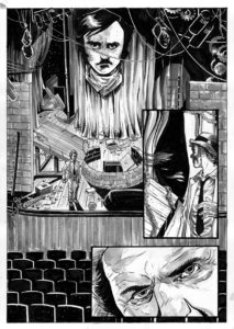 Kolchak: The Poe Cases, Chapter Two, Page 1; Art by Luis Czerniawski
